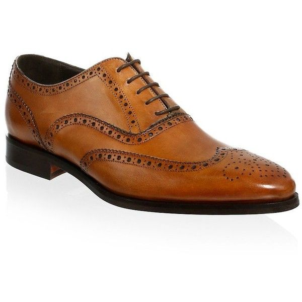 To Boot New York Ambler Leather Wingtip Oxfords ($398) ❤ liked on Polyvore featuring men's fashion, men's shoes, men's oxfords, mens lace up shoes, to boot new york mens shoes, oxford mens shoes, mens leather lace up shoes and mens wingtip shoes
