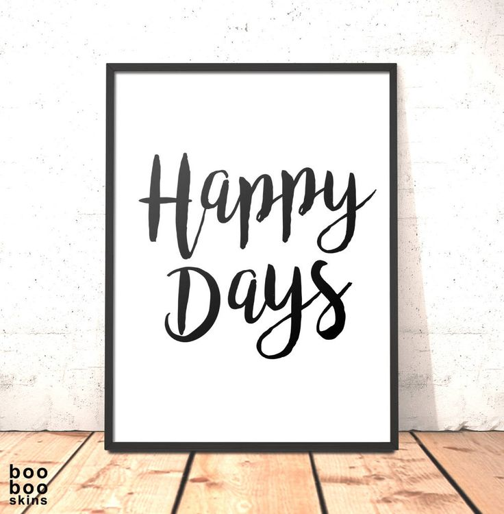 Happy Days Print Poster Picture Art Gift for Daughter Sister Girlfriend Friend | Housewarming Gift | Moving In Present Happy Days Printable by boobooskins on Etsy #happy #love #summer #sunshine #fun #behappy #love #carefree #friends #art #print #home #decor #bedroom #minimalist #scandi #nordic #typography