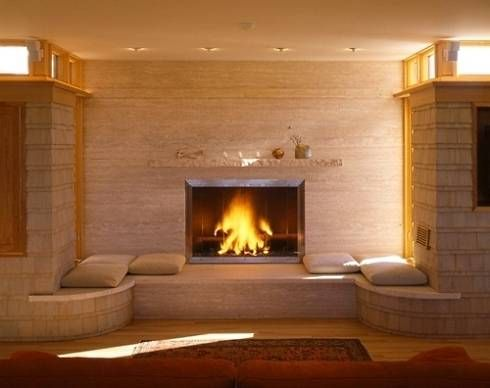 fireplace hearth ideas | See More Unique & Innovative Contemporary Fireplace Designs!