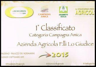 Attestato Società Agricola F.lli Lo Giudice - Canicattì - Agrigento - Sicilia