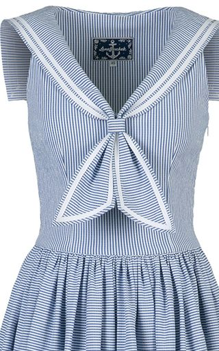 Sailor Styled A Line Dress by LENA HOSCHEK for Preorder on Moda Operandi