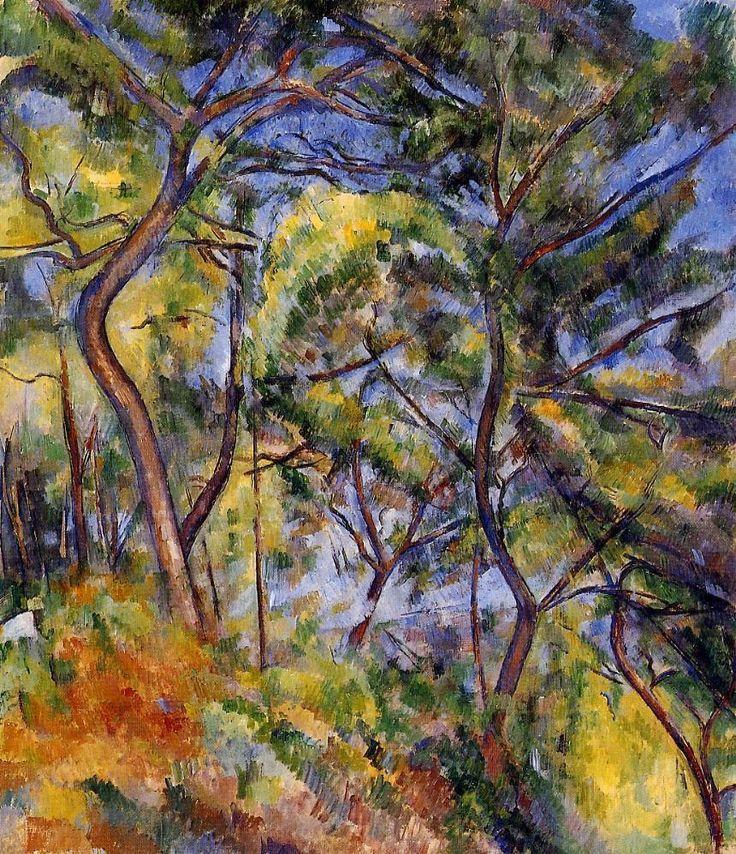 Paul Cézanne (1839-1906) - Forest, 1894, oil on canvas 116.2 x 81.3 cm, Los…