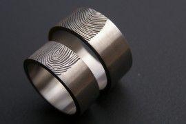 Vingerafdruk ring   Vingerafdruk sieraden   Kool Design