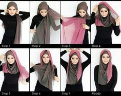 If you have a two shades scarf this is how you can style it, it looks beautiful and gorgeous, fl...