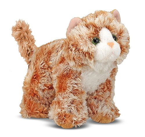 Trixie Orange Tabby Kitten Stuffed Animal | Toys for 12-24 month olds | Melissa and Doug