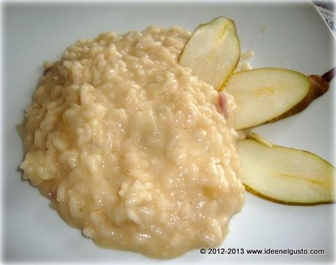 Risotto con pere e taleggio- Risotto with pears and Taleggio cheese