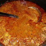 Afrika yöresine ait aside çorbası ( kuru bamya)