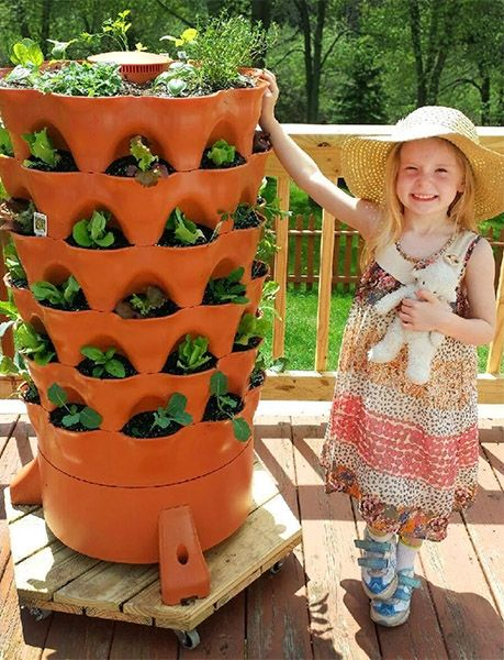 Child with her Garden Tower