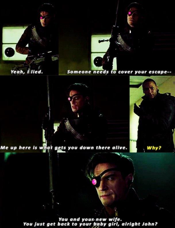"""#Arrow 3x17 """"Suicidal Tendencies"""" - Floyd & Diggle Try not to cry. Cry a lot"""