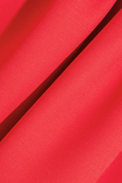 Alexander McQueen - Drop-waist Wool-blend Scuba Dress - Red - IT