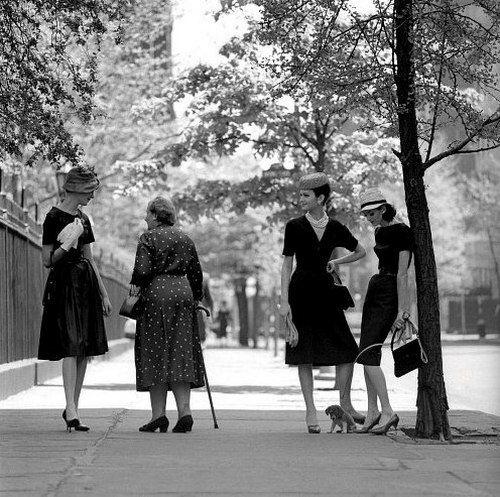 Fashion photography by Jerry Schatzberg, New York City, 1950s.