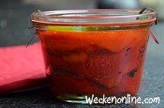 Geroosterde paprika's inmaken