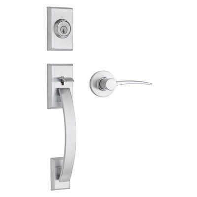 Weiser GCL9471 TVH/KTL26D S Tavaris SmartKey Satin Chrome Residential Single-Lock Keyed-Door Handleset