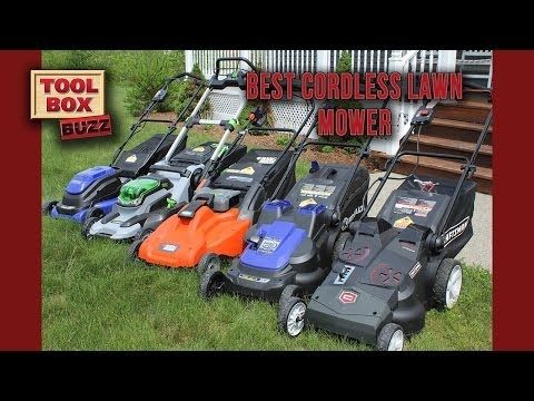 Best Cordless Lawn Mower Head to Head - YouTube, June 2014