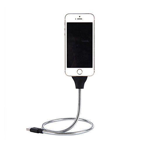Lazy téléphone support câble de chargement, Micro USB en forme de palmiers câble d'alimentation en métal Anti-fracture Voiture station…
