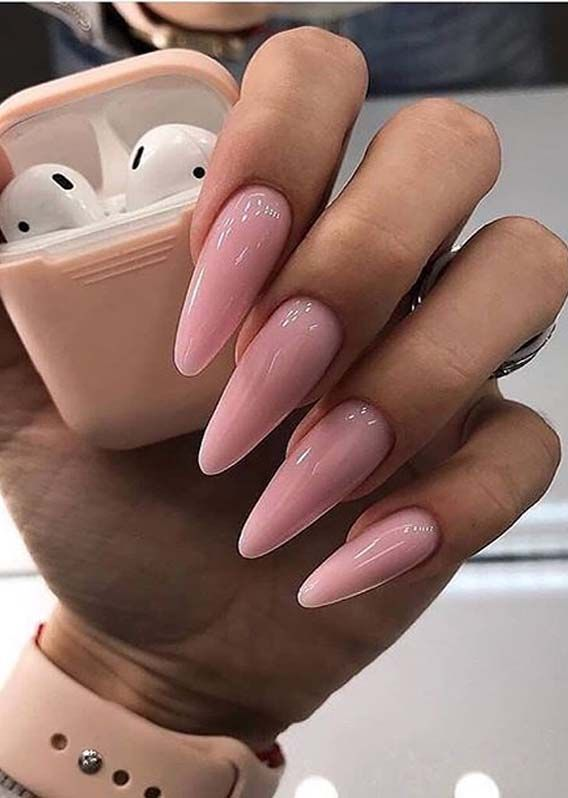 Modern Pink Nails Designs To Show Off For Cute Hands Cleverstyling In 2020 Pink Nail Designs Pink Nails Simple Nail Art Designs