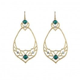 Mosaic Swinging Lace Teardrop Earring
