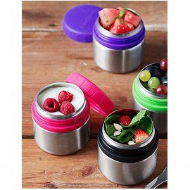 8 oz. Rounds Stainless Steel Food Containers, Leakproof, set of 2 (4 colors)