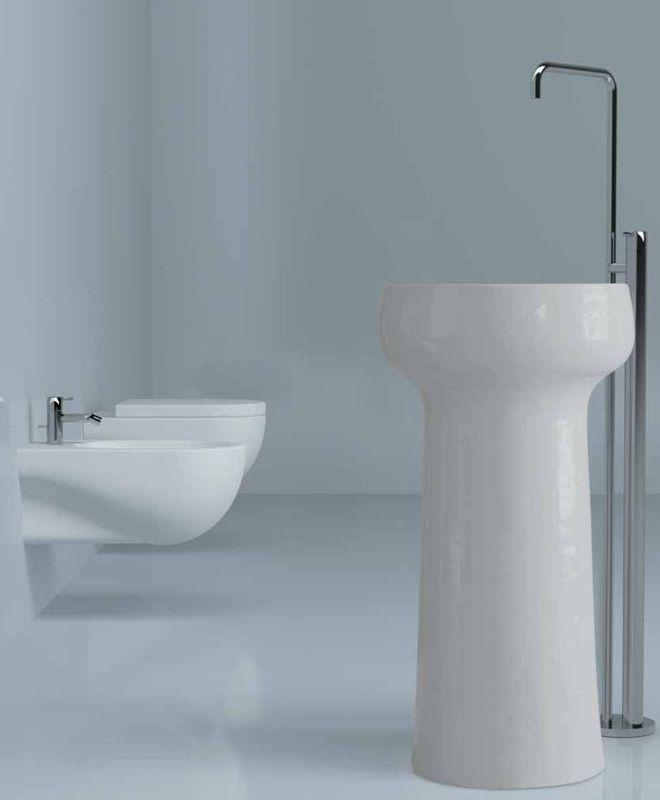 Graal - Freestanding Washbasin in Terracotta   Azzurra Ceramica S.p.A.