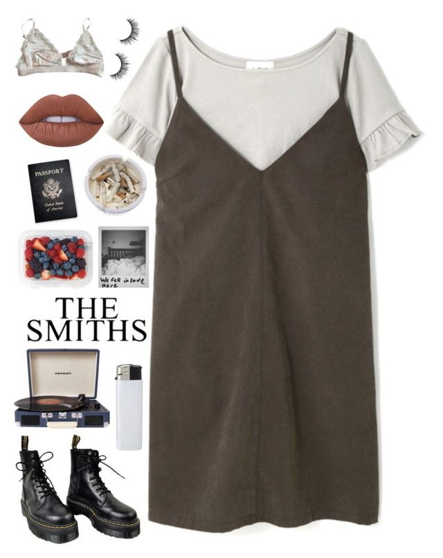 she had a face straight out a magazine by xxharrietxx on Polyvore featuring polyvore fashion style STELLA McCARTNEY Dr. Martens Lime Crime Crosley Radio & Furniture Ash Passport clothing