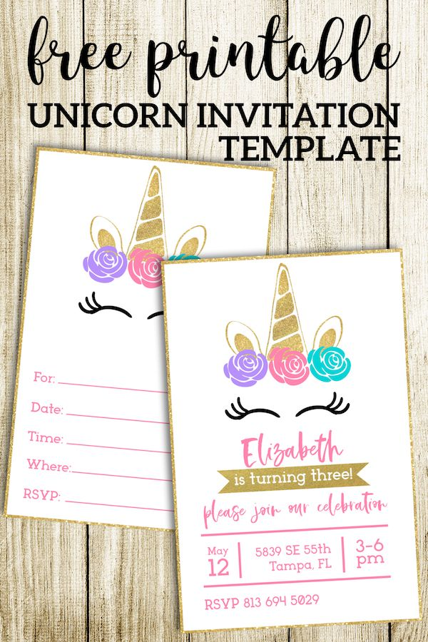 image about Free Printable Unicorn Invitations identified as Absolutely free Printable Unicorn Invites Template Birthday