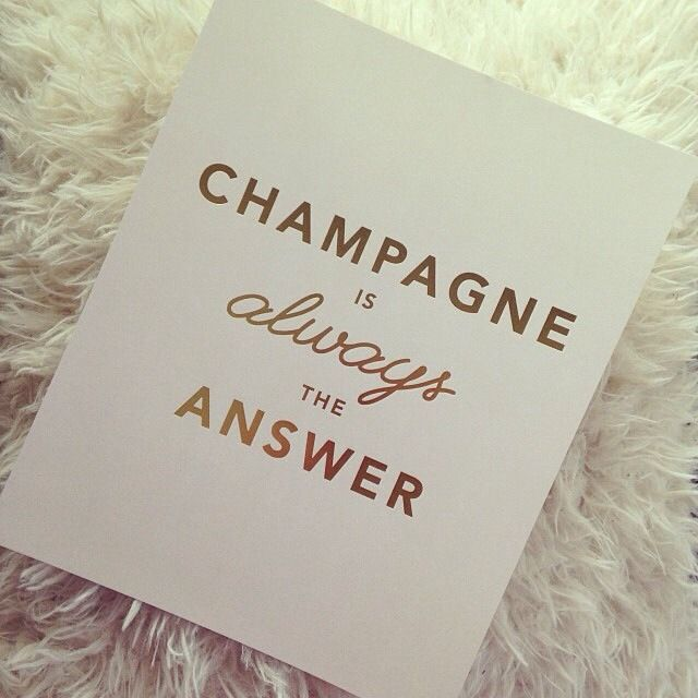 """""""Champagne is always the answer."""" // Apartment Decor"""