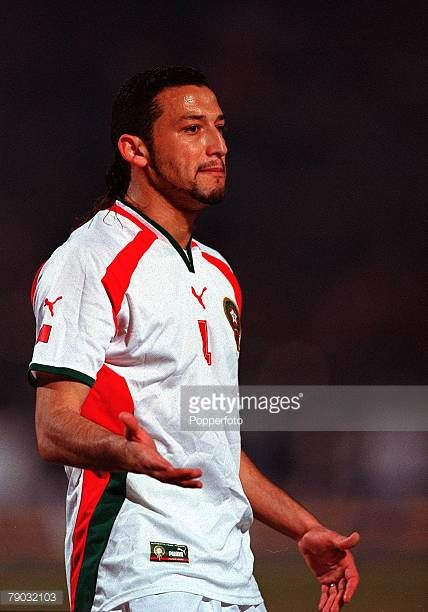 Football 2002 World Cup Qualifier African Second Round Group C 28th January 2001 Cairo Egypt Egypt 0 v Morocco 0 Moroccos Youssef Rossi