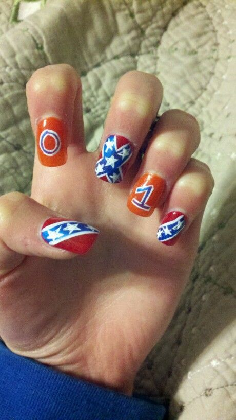 These dukes of hazard rebel flag nails i did were kick ass!!