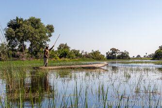 Mokoro, Delta del Okavango, Botswana