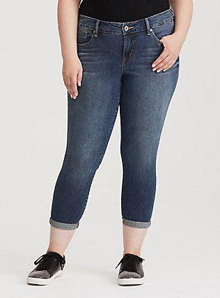 be56dd5943c Plus Size Cropped Skinny Jean - Medium Wash