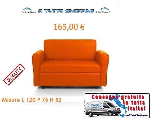 Divano 2 posti arancio a Genova - eBay Annunci
