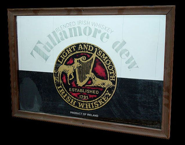 Tullamore Dew Irish Whiskey Bar Mirror Whisky
