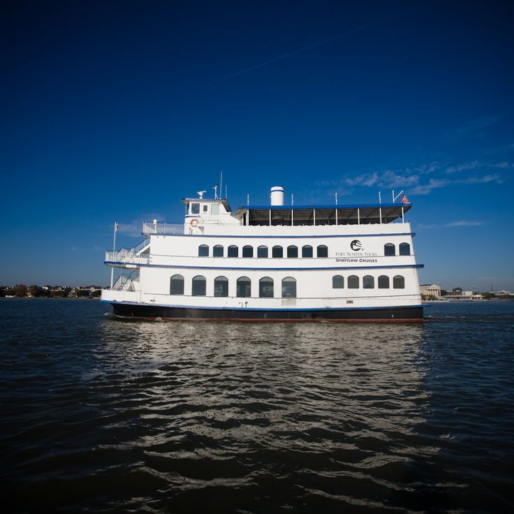 Dining Cruises in Charleston, SC from SpiritLine Cruises. Fine dining while touring the Charleston, SC harbor. THIS is waterfront dining!