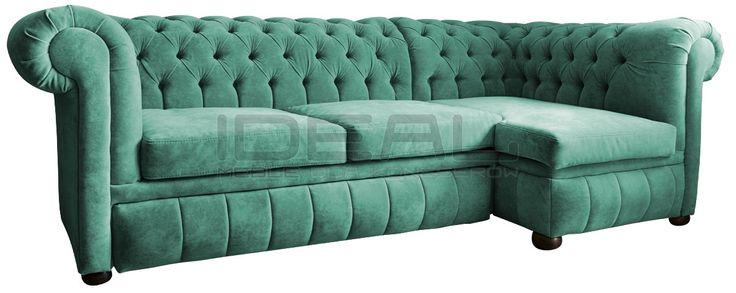 Zielony narożnik chesterfield, green corner sofa chesterfield, wygodny, comfortable,  pluszowa sofa chesterfield, Narożnik Chesterfield March Rem, corner, corner sofa, velvet,  fotel,  chesterfield,  styl angielski, pikowana sofa, zilony, green, miętowy, mint  naroznik_chesterfield_march_rem_IMG_1135c.jpg (1200×479)