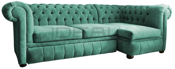 Zielony narożnik chesterfield, green corner sofa chesterfield, wygodny, comfortable,  pluszowa sofa chesterfield, Narożnik Chesterfield March Rem, corner, corner sofa, velvet,  fotel,  chesterfield,  styl angielski, pikowana sofa, zilony, green, miętowy, mint  naroznik_chesterfield_march_rem_IMG_1135c.jpg (1200×479)