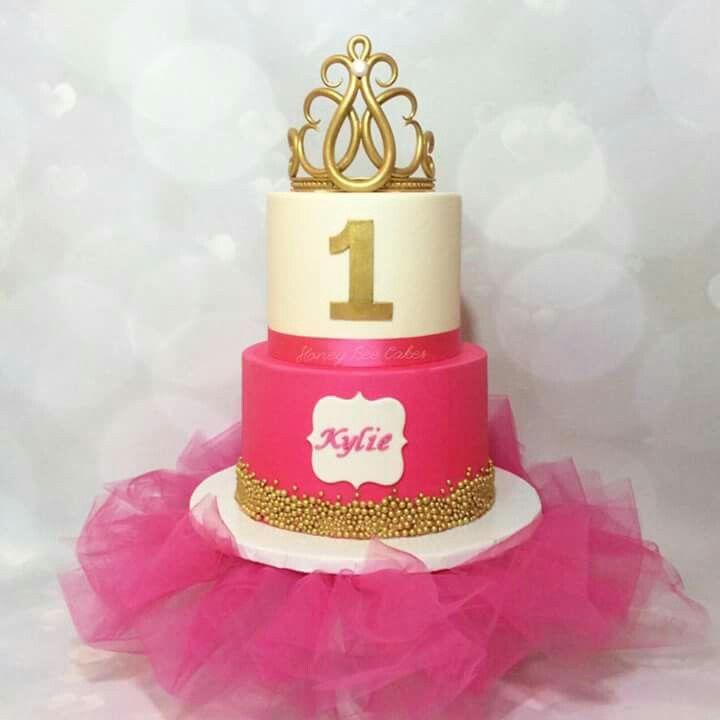 Hot Pink Tiara Cake