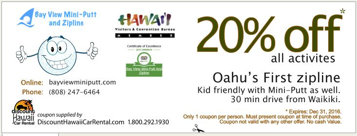 Oahu discount coupons