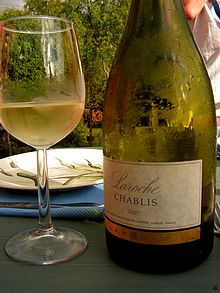 The Chablis region is the northernmost wine district of the Burgundy region in France. The grapevines around the town of Chablis are almost all Chardonnay, making a dry white wine renowned for the purity of its aroma and taste.