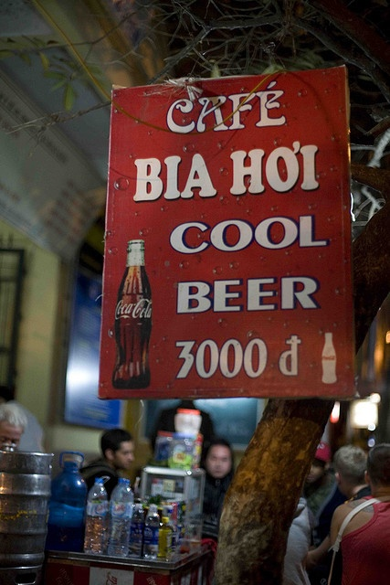 Bia Hoi (Vietnam). 'One of the great pleasures of travelling in Vietnam is bia hoi (fresh beer). Incredibly cheap and widely available, bia hoi places offer a very local experience. Park (or attempt to park) your rear on one of the tiny plastic stools and get stuck in.' http://www.lonelyplanet.com/vietnam
