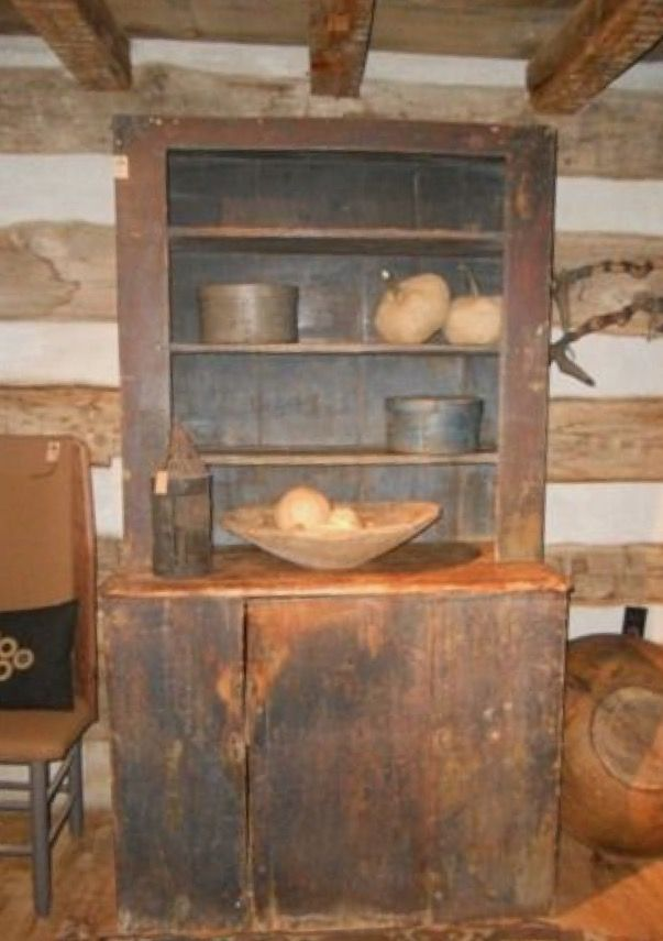 Primitive Cupboard - Curry's Antiques