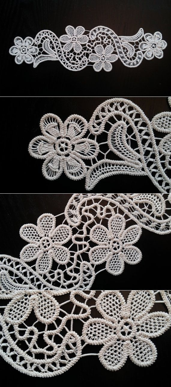 Point Lace Romanian Style Crochet Doily Ivory by ValeriasShop | dzpfybt | Постила