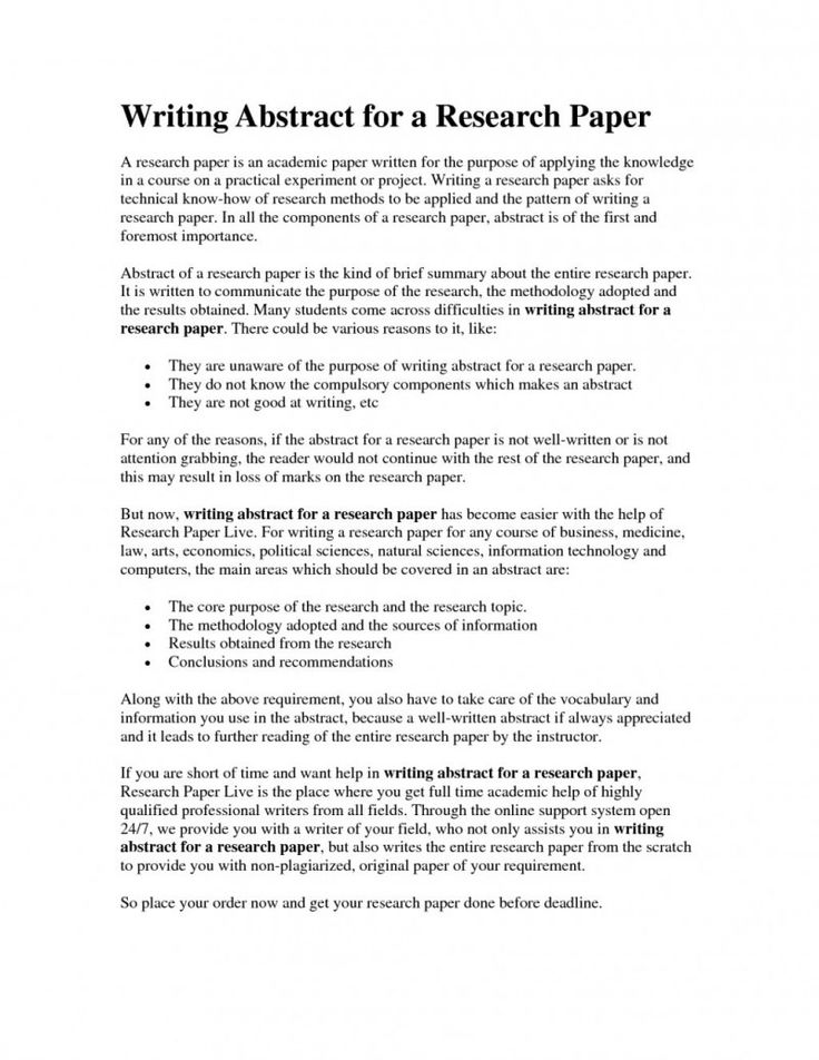 How to Write Papers About Term paper abstract - writing an abstract for research paper