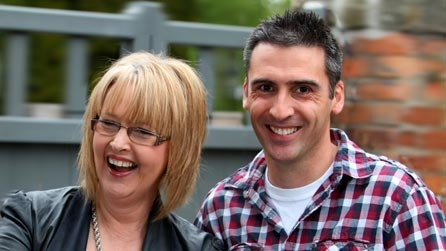 Dafydd a Caryl in the morning on Radio Cymru.  It's cheerful, the two of them are a hoot, and I try never to miss their show!