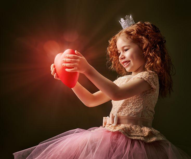 Картинка Лучи света Девочки День святого Валентина Рыжая ...
