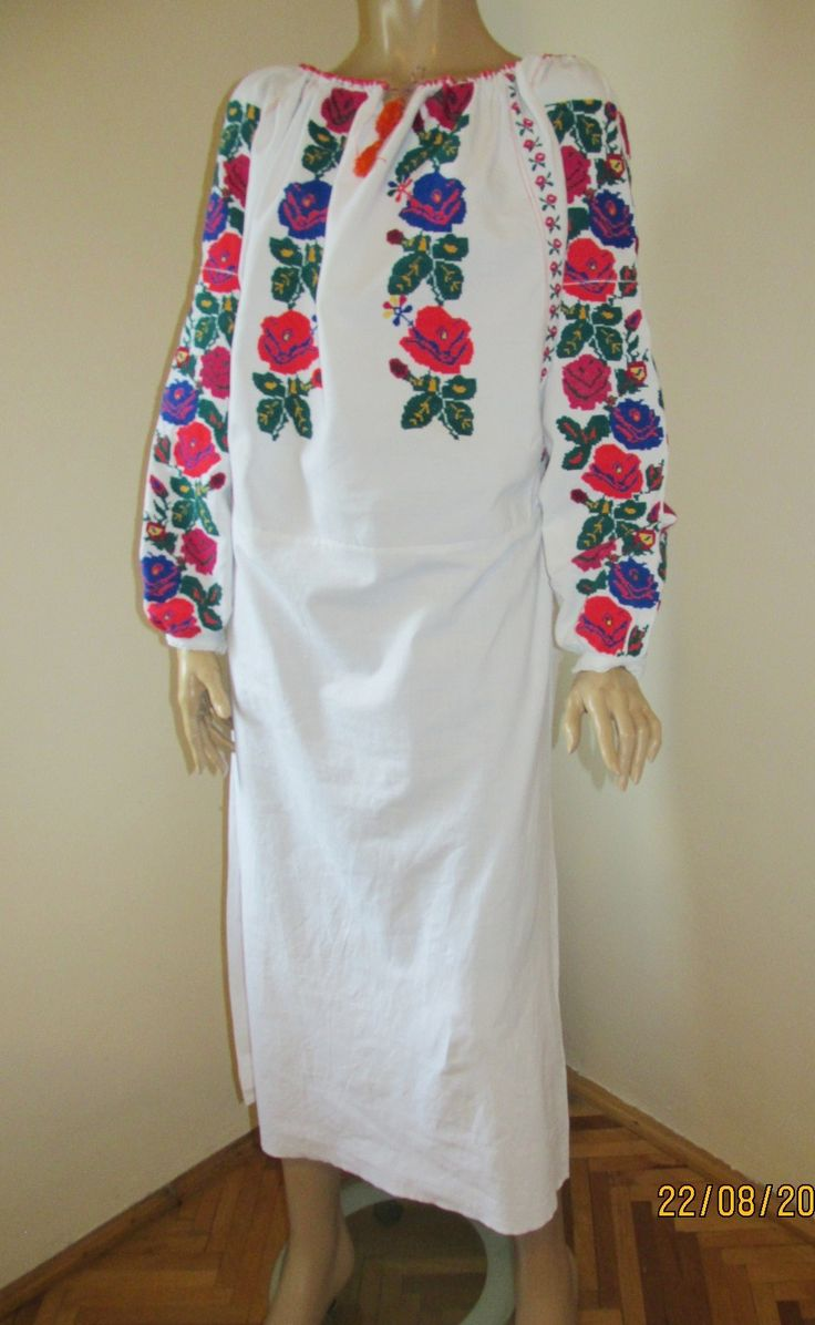 Splendid vintage Romanian traditional dress from Moldova.Available at www.greatblouses.com