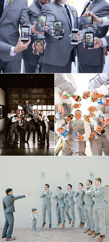 15 Creative and Fun Groomsmen Wedding Photo Ideas