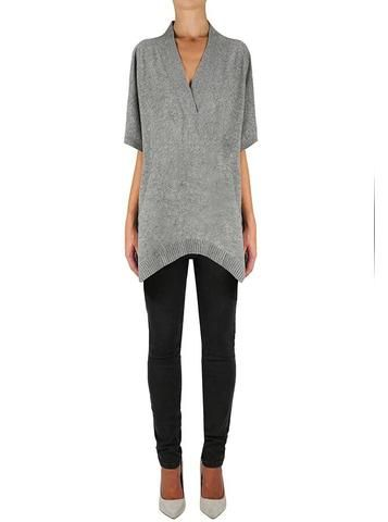 Away She Goes Tunic in Grey Marle