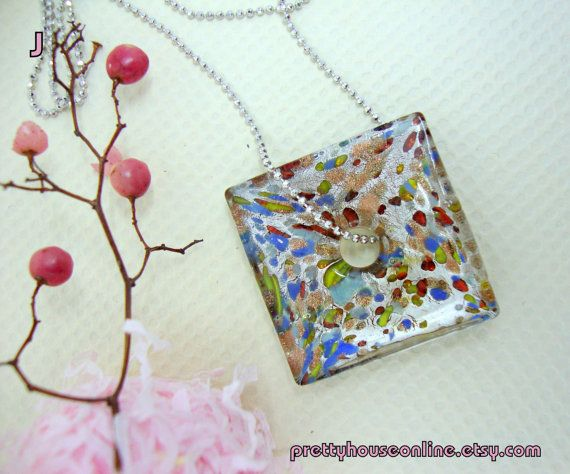 SPECIAL SALE  Handmade Glass Bead Pendant by PrettyHouseOnline