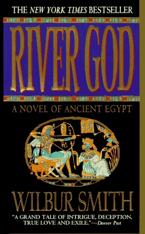 Wilbur Smith: River God! My dad recommends all his books but they just don't seem to look good, so I'm looking past the cover!