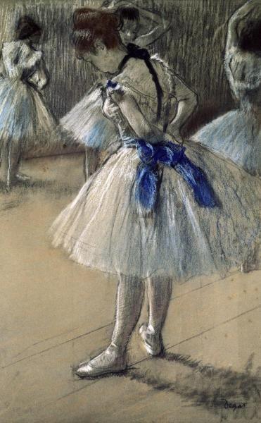 Edgar Degas - Danseuse, Dancer, Pastel/Char/Chalk - art prints and posters